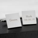 Personalised Wedding Role Square Cufflinks