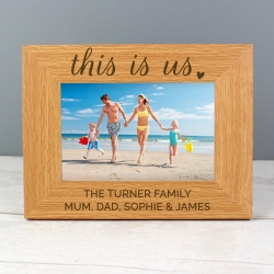Personalised 'This Is Us' 6x4 Landscape Wooden Photo Frame