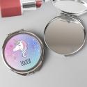 Personalised Unicorn Compact Mirror
