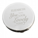 Personalised You Look Lovely Compact Mirror