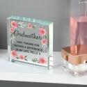 Personalised Floral Sentimental Large Crystal Token