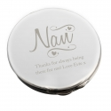 Personalised Nan Swirls & Hearts Compact Mirror