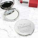 Personalised Bridesmaid Swirls & Hearts Compact Mirror