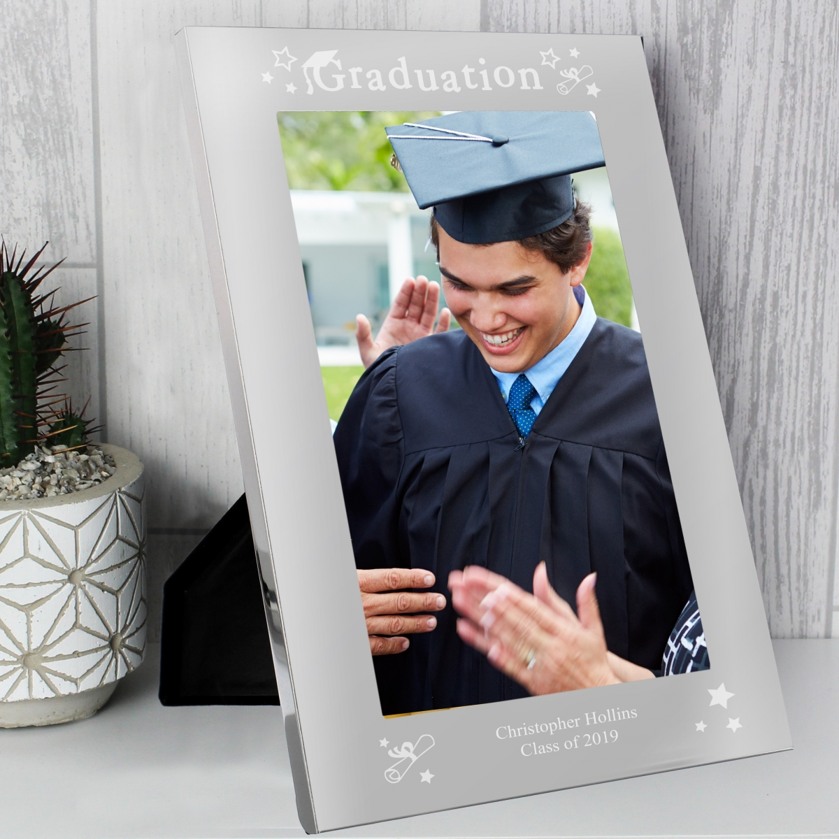 Personalised Graduation 7x5 Silver Photo Frame