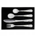 Personalised Teddy 4 Piece Embossed Cutlery Set