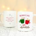 Personalised Cute Christmas Hot Chocolate Mug