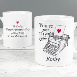 Personalised Just My Type Mug
