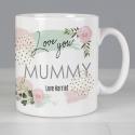 Personalised Abstract Rose Mug