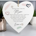 Personalised Large Wooden Heart