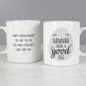 Personalised 'You're A Good Egg' Mug