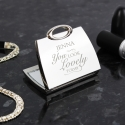 Personalised 'You Look Lovely' Handbag Compact Mirror