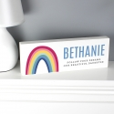 Personalised Rainbow Wooden Block Sign