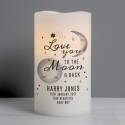 Personalised Baby 'To The Moon and Back' LED Candle
