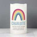 Personalised Rainbow LED Candle