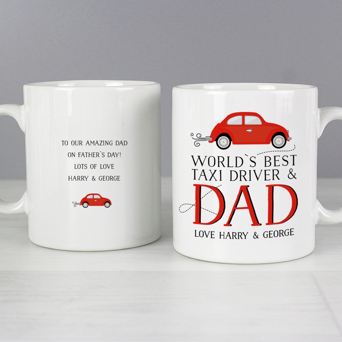 Personalised World's Best Taxi Driver Dad Mug