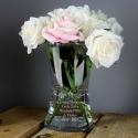 Personalised Sentiments Glass Vase