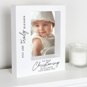 Personalised 'Truly Blessed' Christening 5x7 Box Photo Frame