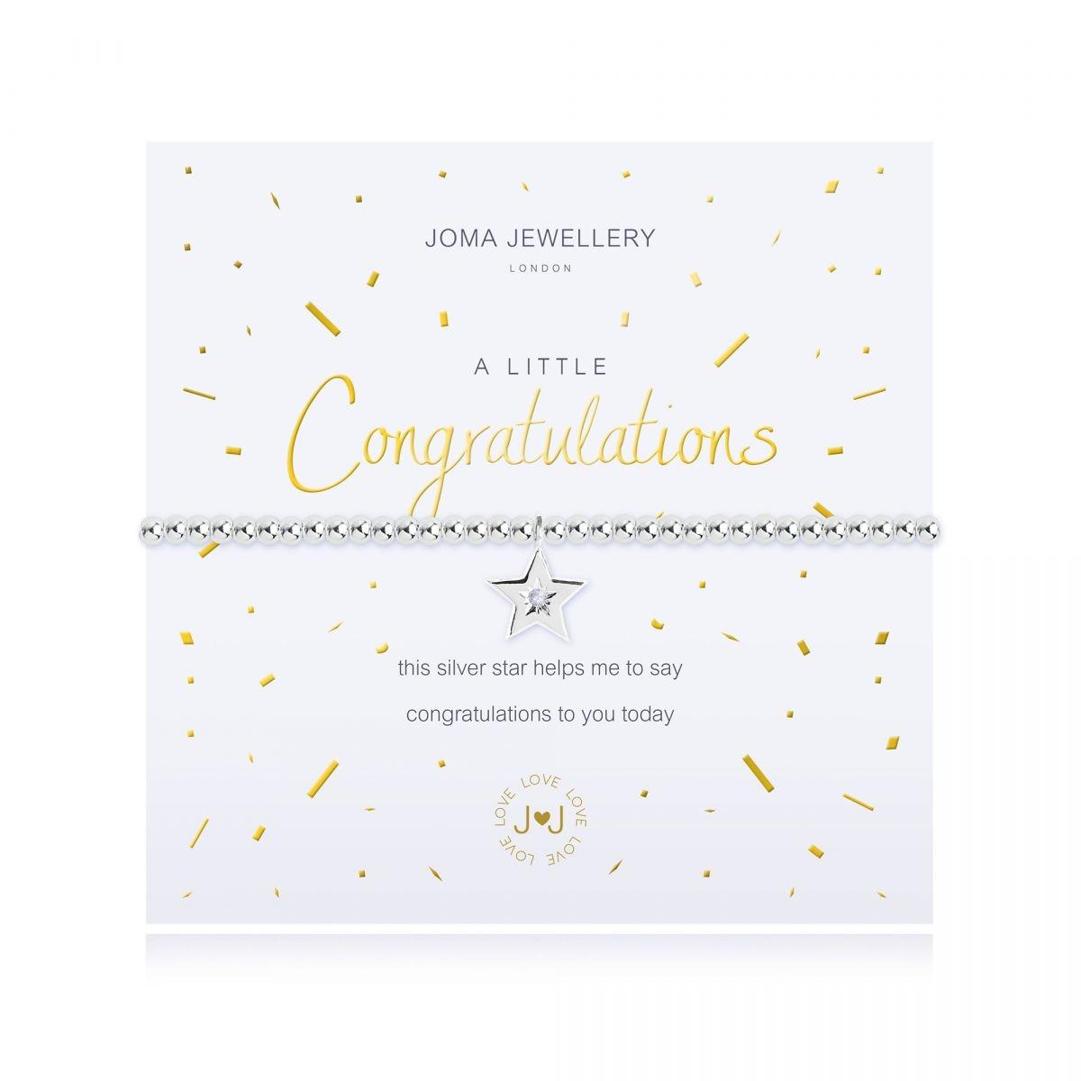 Joma Jewellery A Little 'Congratulations' Bracelet