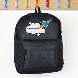 Personalised Rocket Motif Backpack