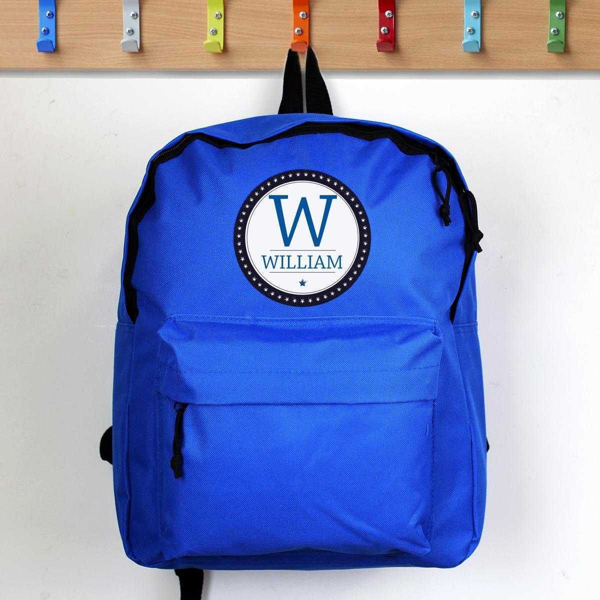 Personalised 'Star' Blue Backpack