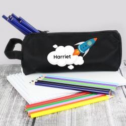 Personalised Skyrocket Pencil Case