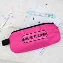 Personalised Pink Pencil Case