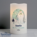 Personalised The Snowman and the Snowdog LED Candle