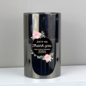 Personalised Floral Smoked Glass LED Candle