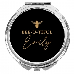 Personalised Bee-u-tiful Compact Mirror