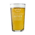 Personalised Beer My Valentine Pint Glass