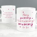 Personalised Yummy Scrummy Mummy To Be Mug