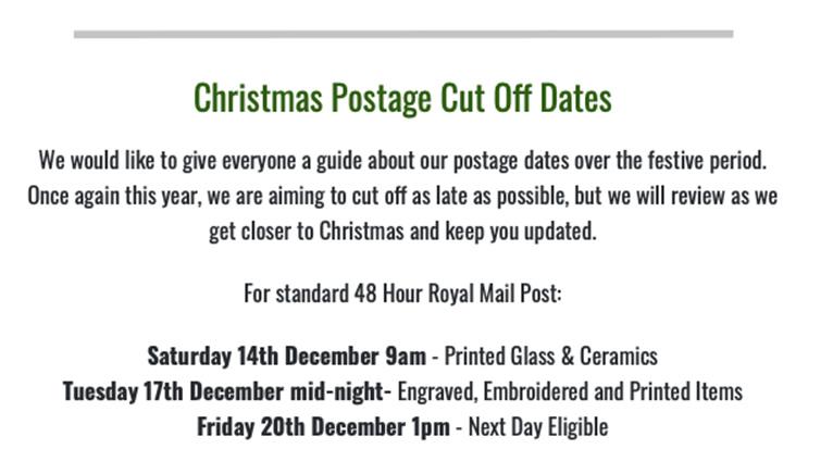 Postage Cut Off