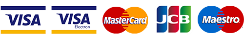 We accept all popular credit cards including Visa and Mastercard.